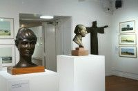 Head of the Artist's Wife, Sir Charles Parsons c. 1988 & Christ in Majesty 1976 - Retrospective Exhibition - The Hatton Gallery Newcastle upon Tyne  2006-7