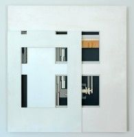Black and White Relief    Wood and Paint   1983   92 x 98 cms   Private Collection EAW