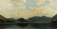 Crummock Water   Acrylic on Paper  1992   25 x 48 cms   Private Collection DMW