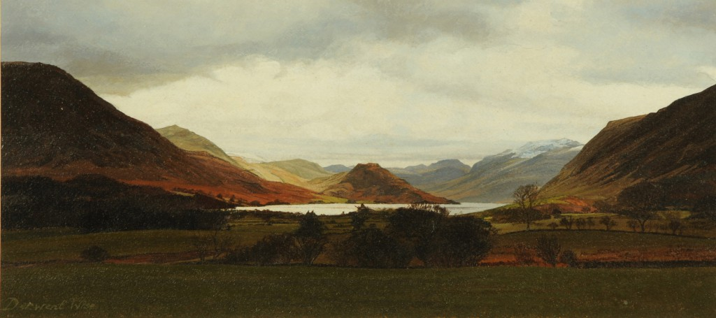 Crummock Water Cumberland   Acrylic on Paper   17 x 38 cms   Private Collection EAW