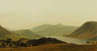 Crummock Water Cumbria   Acrylic on Paper   1996   32 x 60 cms   Private Collection HSB