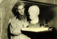 Derwent sculpting bust of Reverend Dring