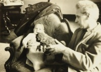 Derwent with son Mark