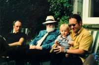 Derwent with sons Mark (left) and Richard (right) and grandson Joseph