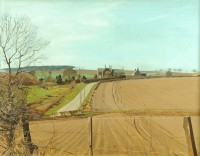 Hetton Law Northumberland   Acrylic on Board   1979   50 x 66 cms   Private Collection EAW