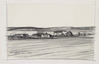 Hetton Law    Pencil on Paper   1974 Arts Council Collection