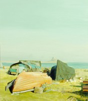 Holy Island Harbour    Acrylic on Paper   2003   44 x 38 cms   Private Collection EAW