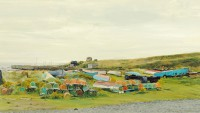 Holy Island Harbour I   Acrylic on Paper   2003   31 x 55 cms   Private Collection EAW