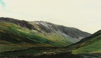 Honister Pass Cumbria   Acrylic on Paper     34 x 39 cms   Private Collection DMW