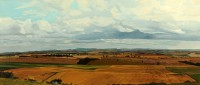 In the Scottish Borders II   Acrylic on Paper   2003   35 x 82 cms  Private Collection RSW