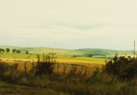 Northumberland Landscape   Acrylic on Paper   38 x 54 cms   Private Collection EAW