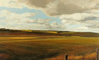 Northumbrian Landscape near Plashetts   Acrylic on Paper   1986   40 x 66 cms   Private Collection EAW