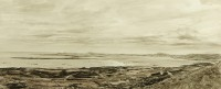 Sandon Bay Holy Island   Ink and Sepia Wash   33 x 79 cms   Private Collection RSW