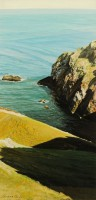 St. Abbs Berwickshire   Acrylic on Paper   1987   50 x 24 cms   Private Collection HSB