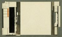 Study for Intercity relief   card and pencil   c. 1980   Private Collection