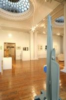Sculpture foreground 1978 with Freestanding Abstract in 2 Pieces 1965 in background   Retrospective Exhibition The Hatton Gallery 2006-7