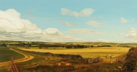 Towards Simonside Northumberland   Acrylic on Paper   1986   37 x 71 cms   Private Collection HSB
