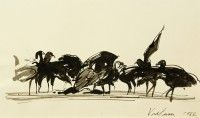 Vultures   Pen and ink   1984   Private Collection