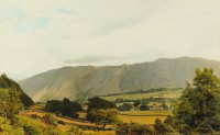 Wastwater Cumbria   Acrylic on Paper   1996   33 x 53 cms   Private Collection DMW