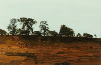 Written Crag near Hexham   Acrylic on Paper   1986   31 x 46 cms   Private Collection DMW